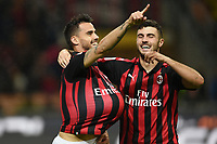 Suso of AC Milan celebrates with Patrick Cutrone of AC Milan  after scoring a goal <br /> Milano 31-10-2018 Stadio San Siro, Football Calcio Serie A 2018/2019 AC Milan - Genoa <br /> Foto Image Sport / Insidefoto
