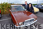 John Callaghan (Killorglin) and Maire Malone (Killarney) with a 1978 Austin Allegro at the Threshing Festival in Blennerville on Sunday.