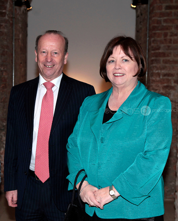 27/1/11 Mary Harney7 TD and husband Brian Geoghegan at the 30th Anniversary of Excalibur, raising funds for the launch of the the Warrior Programme Ireland at the Pwerscourt House, Enniskerry, Co Wicklow. Picture: Arthur Carron/Collins