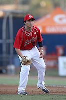Nick Longhi participates in the Area Code Games at Blair Field on August 9, 2012 in Long Beach, California. (Larry Goren/Four Seam Images)