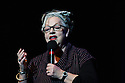 "London, UK. 24.10.2012.  Jo Brand, along with fellow top comedians come together for a night of stand-up comedy to support mental health services in South London in ""Comedy SLaM"" at the Queen Elizabeth Hall. The line up is: Compere Imran Yusuf, Robin Ince, Daniel Simonsen, Nick Revell, Nina Conti, Stewart Francis, James Acaster, Shappi Khorsandi and Jo Brand. Picture shows: Jo Brand. Photo credit: Jane Hobson."