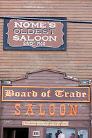 Board of trade Saloon in Nome, the historic building of 1900 still stands and functions, and was the race headquarters for the first All Alaska Sweepstakes sled dog races.