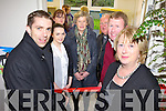 NEW ROOM: Kerry footballer Marc Ó Sé cut the ribbon on the new resource room at Ballyfinnane national school on Monday, pictured her with l-r: .... .... .... OWEN TO FINISH