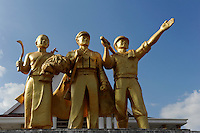 LAO PDR Vientiane, monument at army museum as memory of the US war in Indochina / Laos Vientiane , Monument vor dem Militaermuseum