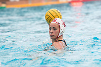 STANFORD, CA -- February 14, 2019. The Stanford Cardinal women's water polo team defeats the Chinese National Team in an exhibition 15-13 at the Avery Aquatic Center.
