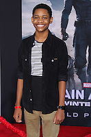"HOLLYWOOD, LOS ANGELES, CA, USA - MARCH 13: Tyrel Jackson at the World Premiere Of Marvel's ""Captain America: The Winter Soldier"" held at the El Capitan Theatre on March 13, 2014 in Hollywood, Los Angeles, California, United States. (Photo by Xavier Collin/Celebrity Monitor)"