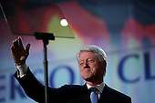Boston, Mass..USA.JUly 26, 2004..The opening night of the Democratic National Convention in Boston. Former President Bill Clinton speaks at the convention..