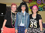 Emma Fogarty, Tricia and Geraldine Grogan pictured at the 80's night in the Grove House Dunleer to raise funds for the Paul Lannon Fight For Life fund. Photo:Colin Bell/pressphotos.ie