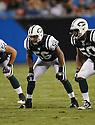 LANCE LAURY, of the New York Jets in action during the Jets game against the Carolina Panthers  at Bank of America Stadium in Charlotte, N.C.  on August 21, 2010.  The Jets beat the Panthters 9-3 in the second week of preseason games...