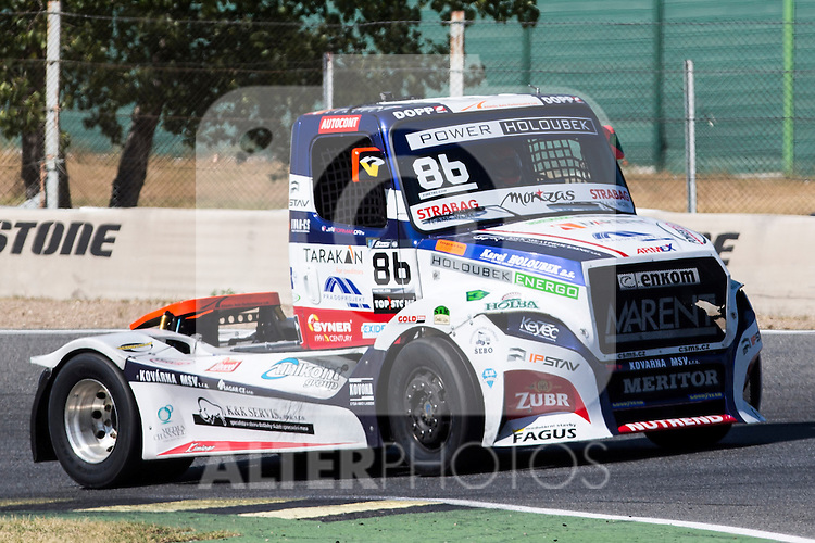 Czech driver Jiri Forman belonging Czech team Buggyra International Racing System during the super pole SP1 of the XXX Spain GP Camion of the FIA European Truck Racing Championship 2016 in Madrid. October 01, 2016. (ALTERPHOTOS/Rodrigo Jimenez)