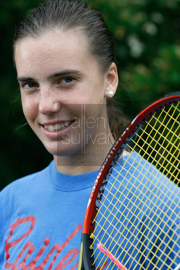 Walton High School tennis player Cameron Ellis on Wednesday, May 10, 2006.