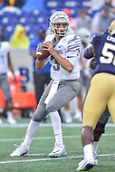 Annapolis, MD - September 8, 2018: Memphis Tigers quarterback Brady White (3) looks to pass the ball during game between Memphis and Navy at  Navy-Marine Corps Memorial Stadium in Annapolis, MD. (Photo by Phillip Peters/Media Images International)
