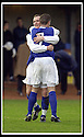18/01/2003                   Copyright Pic : James Stewart.File Name : stewart-alloa v qots13.PETER WEATHERSON CELEBRATES WITH JOHN O'NEIL (7) AFTER SCORING QUEEN OF THE SOUTH'S SECOND GOAL......James Stewart Photo Agency, 19 Carronlea Drive, Falkirk. FK2 8DN      Vat Reg No. 607 6932 25.Office     : +44 (0)1324 570906     .Mobile  : +44 (0)7721 416997.Fax         :  +44 (0)1324 570906.E-mail  :  jim@jspa.co.uk.If you require further information then contact Jim Stewart on any of the numbers above.........