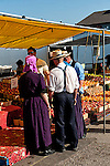 Farm family at market, Kitchener, Waterloo, Ontario, Canada