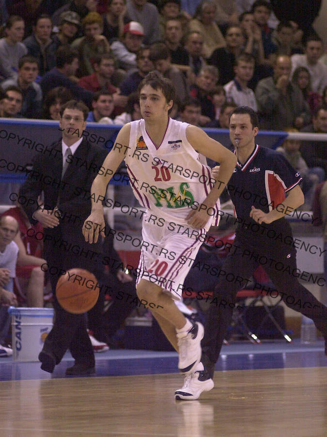 SPORT KOSARKA REFLEKS REFLEX ZELEZNIK FMP HAPOEL Mandic Vukasin 23.03.2004. foto: Pedja Milosavljevic<br />