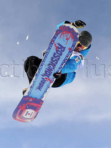 26 03 2011  Snowboarding FIS WC Final Arosa Arosa Switzerland 26 Mar 11 Snowboarding FIS World Cup Final Womens Halfpipe  Picture shows Holly Crawford out