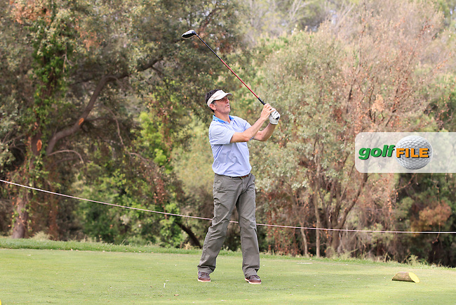 Playing with Kristoffer Broberg (SWE) on the 18th tee during the Pro-Am of the Open de Espana  in Club de Golf el Prat, Barcelona on Wednesday 13th May 2015.<br /> Picture:  Thos Caffrey / www.golffile.ie