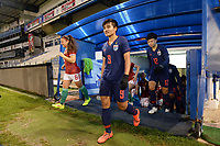 20190227 - LARNACA , CYPRUS : Hungarian midfielder Evelin Fenyvesi (left) and Thai defender Warunee Phetwiset (middle) ,Thai forward Rattikan Thongsombut (right) pictured during a women's soccer game between Thailand and Hungary , on Wednesday 27 February 2019 at the Antonis Papadopoulos Stadium in Larnaca , Cyprus . This is the first game in group B for both teams during the Cyprus Womens Cup 2019 , a prestigious women soccer tournament as a preparation on the FIFA Women's World Cup 2019 in France and the Uefa Women's Euro 2021 qualification duels. PHOTO SPORTPIX.BE | STIJN AUDOOREN