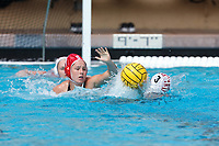 Stanford, CA - March 23, 2019: Madison Stamen during the Stanford vs. Harvard women's water polo game at Avery Aquatic Center Saturday.<br /> <br /> The Cardinal won 20-7.