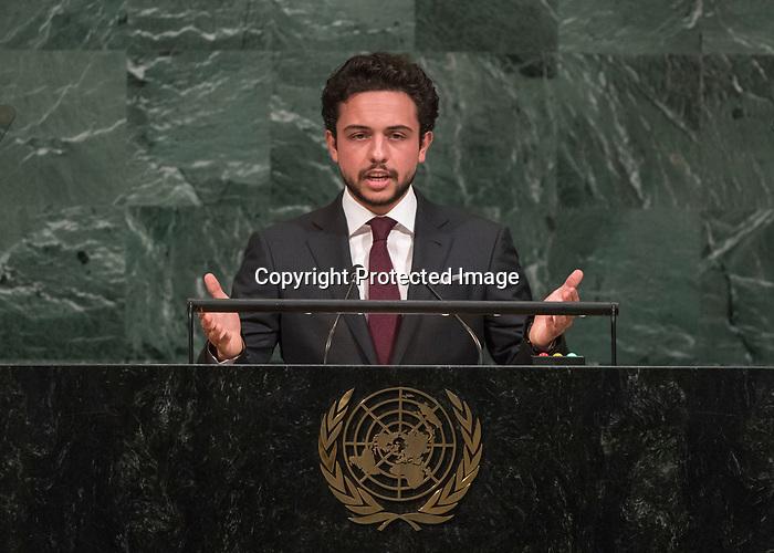 72 General Debate – 20 September <br /> <br /> by His Royal Highness Al Hussein bin Abdullah II, Crown Prince of the Hashemite Kingdom of Jordan