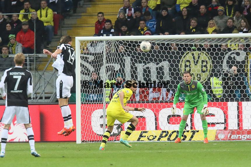Kopfball Alex Meier (Eintracht) - Eintracht Frankfurt vs. Borussia Dortmund, DFB-Pokal Viertelfinale