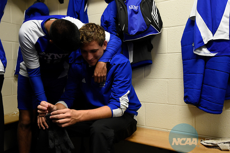 06 DEC 2014:  Lynn University takes on the University of Charleston during the Division II Men's Soccer Championship held at Owsley B. Frasier Stadium on the Bellarmine University campus in Louisville, KY.  Lynne defeated Charleston 3-2 for the national title.  Jamie Schwaberow/NCAA Photos