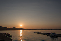 Varese. Lombardia. ITALY. General View.  Sun Set, Crewsreturning from afternoon Training on Lake/Lago Varies. [Varese Rowing Club]. [Canottieri Varese]<br /> <br /> Tuesday  03/01/2017<br /> <br /> [Mandatory Credit; Peter Spurrier/Intersport-images]<br /> <br /> <br /> LEICA CAMERA AG - LEICA Q (Typ 116) - 1/6400 - f2.8