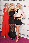 WEST HOLLYWOOD, CA - OCTOBER 12: Dancer Julianne Hough (R), sisters Sharee Hough and Marabeth Hough arrive at Cosmopolitan Magazine's 50th Birthday Celebration at Ysabel on October 12, 2015 in West Hollywood, California.