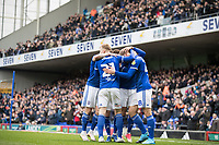 The Ipswich players celebrate the opening goal during Ipswich Town vs Accrington Stanley, Sky Bet EFL League 1 Football at Portman Road on 11th January 2020