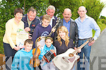 Front row l-r: Daniel Fitzgerald, Michelle O'Mahony and Agnes Fitzgerald. Back row: Mary O'Mahony, Kieran Flanagan, Gearoid Curtin, Denis O'Mahony, Edmund Doran and Denis Curtin getting prepared for the Con Curtin traditional music festival which will be held in Brosna from Friday 26 to Sunday 28th June