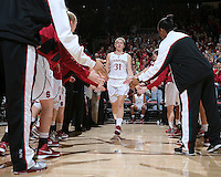 STANFORD, CA - December 29, 2012: Toni Kokenis is introduced before Stanford's game against Connecticut at Maples Pavilion in Stanford, California.  UConn defeated the Cardinal 61-35.