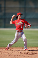 St. Louis Cardinals shortstop Kramer Robertson (3) during a Minor League Spring Training Intrasquad game on March 28, 2019 at the Roger Dean Stadium Complex in Jupiter, Florida.  (Mike Janes/Four Seam Images)