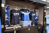 Kansas City, MO - Saturday May 07, 2016: FC Kansas City merchandise before the game between FC Kansas City and Houston Dash during a regular season National Women's Soccer League (NWSL) match at Swope Soccer Village. Houston won 2-1.