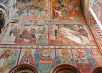 Pictures & images of the Byzantine fresco panels in the Gelati Georgian Orthodox Church of the Virgin, 1106, depicting scenes from the life of Jesus and the Virgin Mary. The medieval Gelati monastic complex near Kutaisi in the Imereti region of western Georgia (country). A UNESCO World Heritage Site.