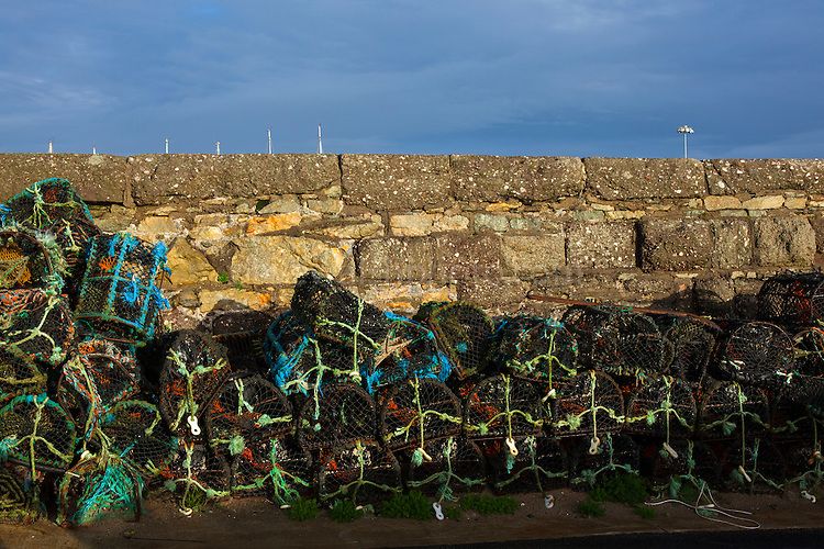 Lobster pots in Kilmore Quay, Wexford, Ireland.