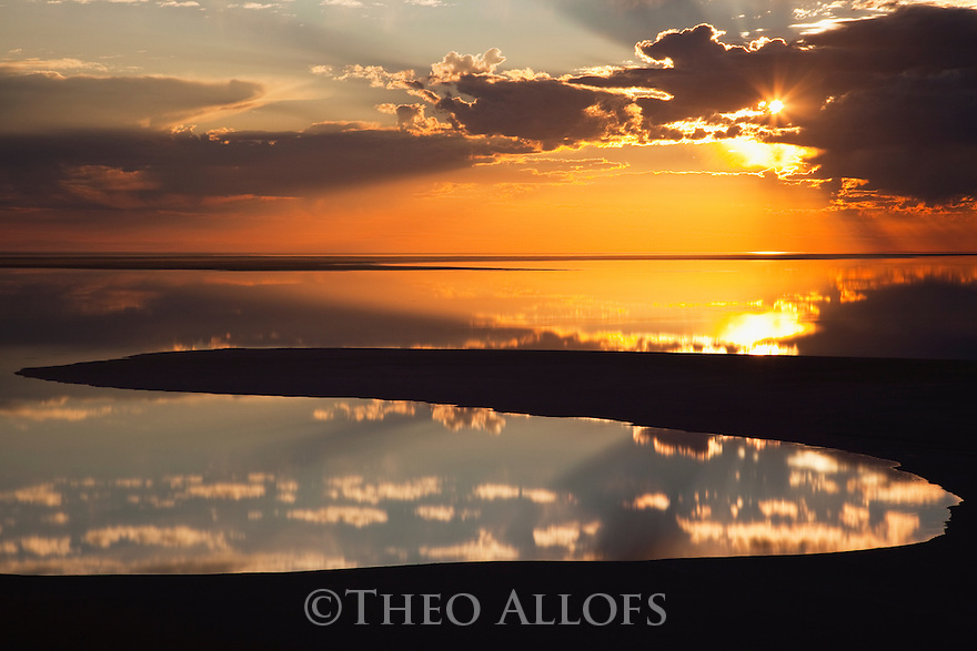Australia, South Australia;  flooded salt lake