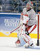 Brian Elliott - The University of Wisconsin Badgers practiced on Wednesday, April 5, 2006, at the Bradley Center in Milwaukee, Wisconsin.  The Badgers won the Title by defeating Maine on April 6 and Boston College on April 8.