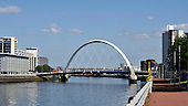"Glasgow's ""squinty"" bridge - Picture by Donald MacLeod - 26.07.11 - 07702 319 738 - www.donald-macleod.com"