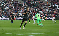 Burnley's Johann Guomundsson celebrates scoring his side's first goal <br /> <br /> Photographer Rob Newell/CameraSport<br /> <br /> The Premier League - West Ham United v Burnley - Saturday 3rd November 2018 - London Stadium - London<br /> <br /> World Copyright &copy; 2018 CameraSport. All rights reserved. 43 Linden Ave. Countesthorpe. Leicester. England. LE8 5PG - Tel: +44 (0) 116 277 4147 - admin@camerasport.com - www.camerasport.com