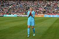 San Diego, CA - Sunday January 21, 2018: Alyssa Naeher prior to an international friendly between the women's national teams of the United States (USA) and Denmark (DEN) at SDCCU Stadium.