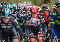 Alejandro Valverde (ESP/Movistar team) in the pack (next to Greg Van Avermaet)<br /> <br /> 103rd Li&egrave;ge-Bastogne-Li&egrave;ge 2017 (1.UWT)<br /> One Day Race: Li&egrave;ge &rsaquo; Ans (258km)