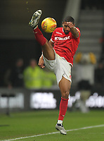 Nottingham Forest's Saidy Janko<br /> <br /> Photographer Mick Walker/CameraSport<br /> <br /> The EFL Sky Bet Championship - Derby County v Nottingham Forest - Monday 17th December 2018 - Pride Park - Derby<br /> <br /> World Copyright © 2018 CameraSport. All rights reserved. 43 Linden Ave. Countesthorpe. Leicester. England. LE8 5PG - Tel: +44 (0) 116 277 4147 - admin@camerasport.com - www.camerasport.com