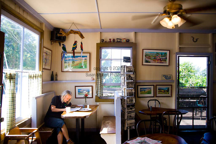 Grandma's Coffee House, popular with locals and tourists alike, in Keokea, Maui, Hawaii has been roasting it's own coffee since 1918.