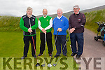 l-r Terry Egan, Pat Williams, Tom O'Connor and Denis Fealy from Tralee and Ardfert golf   clubs at the Federation of Co Kerry golf clubs Kerry Shield which  took place at Castlegregory Golf Club on Saturday