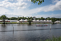 Henley on Thames. United Kingdom. St Pauls School Concord USA training on Henley Reach.  Monday,  27/06/2016,   16:55:35   2016 Henley Royal Regatta, Henley Reach.   [Mandatory Credit Peter Spurrier/ Intersport Images]