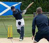 Cricket Scotland - Scotland train at Kent County cricket ground at Benkenham, ahead of two matches against Sri Lanka, on Sunday (tomorrow) and Tuesday - picture shows Dylan Budge - picture by Donald MacLeod - 20.05.2017 - 07702 319 738 - clanmacleod@btinternet.com - www.donald-macleod.com