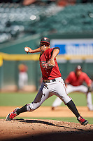 Arizona Diamondbacks pitcher Emilio Vargas (18) during an Instructional League game against the Oakland Athletics on October 15, 2016 at Chase Field in Phoenix, Arizona.  (Mike Janes/Four Seam Images)