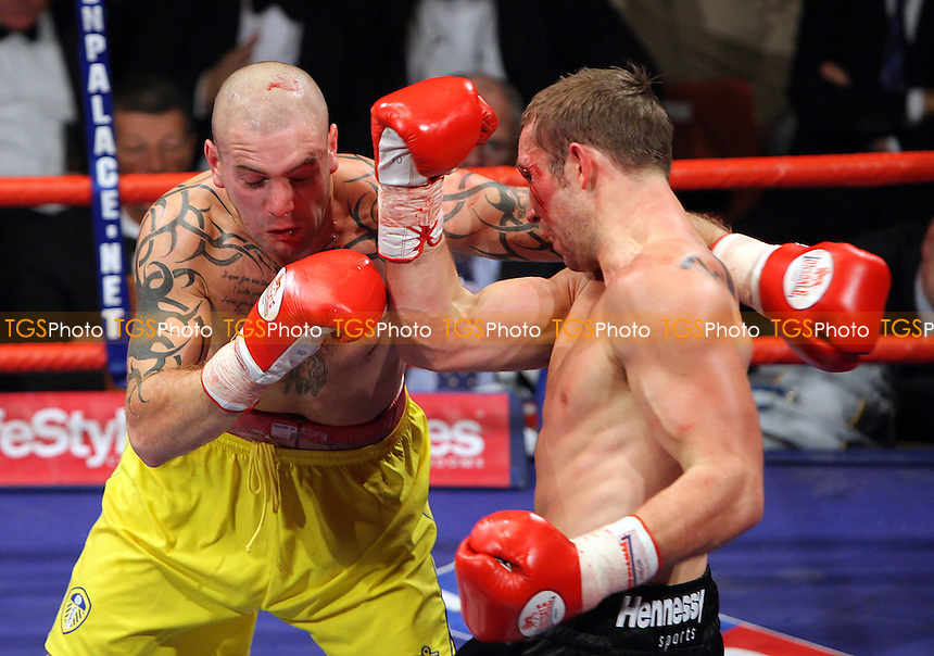 Danny Thornton (Leeds, yellow shorts) defeats Matthew Thirlwall (Bermondsey) on a points decision - Middleweight contest at York Hall, Bethnal Geen, London - 14/11/07 - MANDATORY CREDIT: Gavin Ellis/TGSPHOTO. Self-Billing applies where appropriate. NO UNPAID USE. Tel: 0845 094 6026