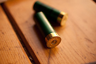 Still life shot of two shotgun shells