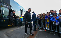 Leeds United manager Marcelo Bielsa steps off the coach at Deepdale<br /> <br /> Photographer Alex Dodd/CameraSport<br /> <br /> The EFL Sky Bet Championship - Preston North End v Leeds United -Tuesday 9th April 2019 - Deepdale Stadium - Preston<br /> <br /> World Copyright &copy; 2019 CameraSport. All rights reserved. 43 Linden Ave. Countesthorpe. Leicester. England. LE8 5PG - Tel: +44 (0) 116 277 4147 - admin@camerasport.com - www.camerasport.com